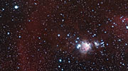 Zooming in on an APEX view of part of the Orion Nebula
