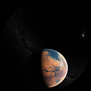 Artist's impression of Mars four billion years ago (Fulldome)