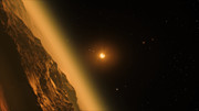 Fly-through of the TRAPPIST-1 planetary system