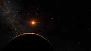 View from the planetTRAPPIST-1f