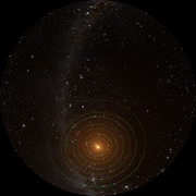 TRAPPIST-1 planetary system seen from above (fullldome)