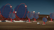 Cherenkov Telescope Array-South in operation (artist's impression)