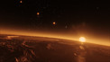 View from above the surface of TRAPPIST-1b