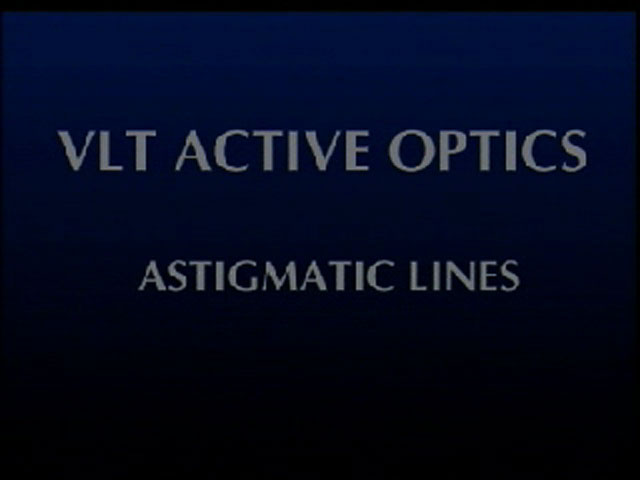 Wonders of Active Optics: Astigmatic
